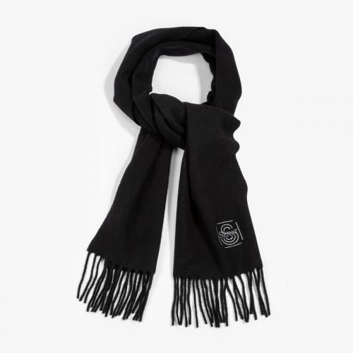 """Echarpe noire """"Sénat"""" 100% laine"""