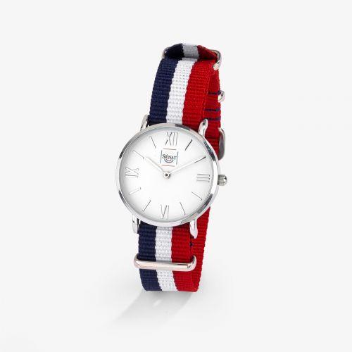 Montre Femme Dandy Bracelet Bleu/blanc/Rouge