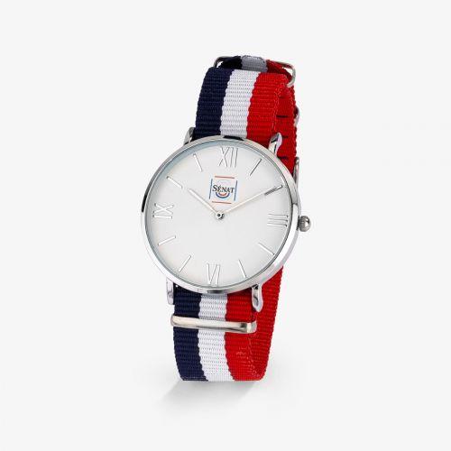 Montre Homme Dandy Bracelet Bleu/Blanc/Rouge