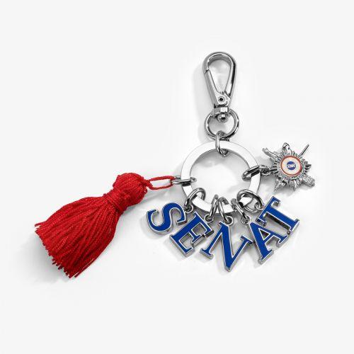 Porte-clés Sénat avec pompon