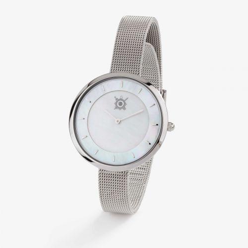 Montre femme  Pierre Lannier / Sénat - bracelet acier milanais argenté