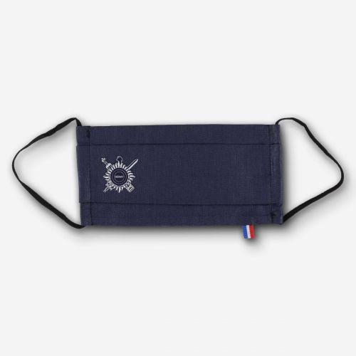 Masque en tissu bleu marine Sénat